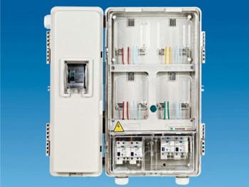 单相四位透明电表箱